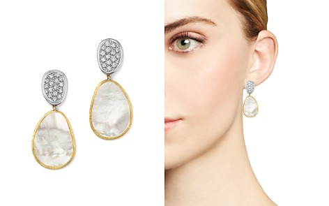 Marco Bicego 18K White & Yellow Gold Lunaria Mother-Of-Pearl Diamond Double Drop Earrings - Bloomingdale's_2